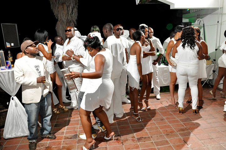 Genius at it again.... lavish all-white party set for