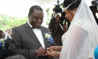Tsvangirai wedding 1