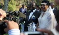 Prime Minister Morgan Tsvangirai and his new wife Elizabeth Macheka 3