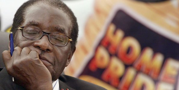 Sleeping on the job: President Robert Mugabe has wrecked the once prosperous economy.