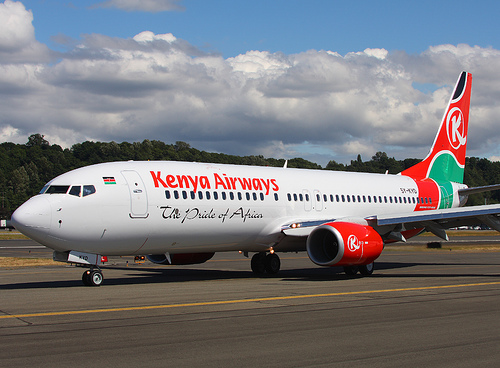 Fax or call Kenyan Airlines at Heathrow airport on phone 0208 283 1800 / 020 8759 7366, Fax 020 8745 5027.