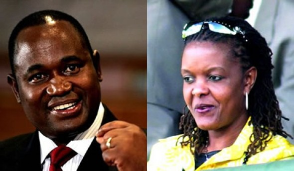 Gideon Gono and Grace Mugabe