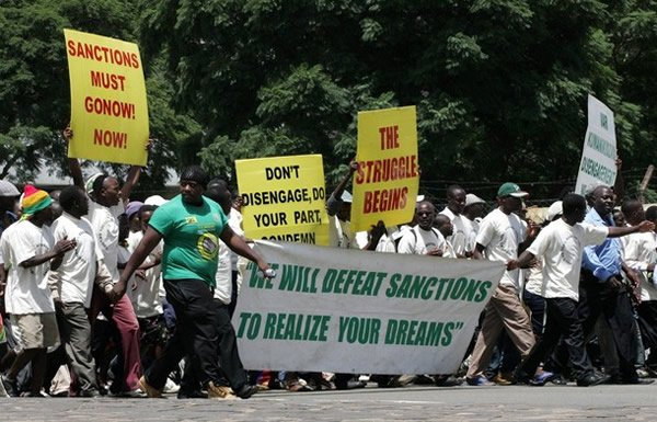 Zanu PF sanctions march