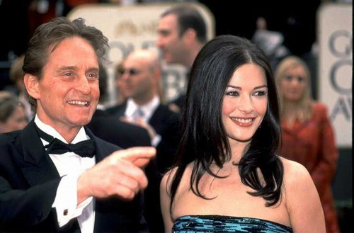 Michael Douglas with wife Catherine Zeta Jones