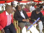 Nelson Chamisa, Elton Mangoma and Tendai Biti at an MDC-T rally in Bulawayo. Over 25 000 supporters are estimated to have packed into the White City Stadium last year.