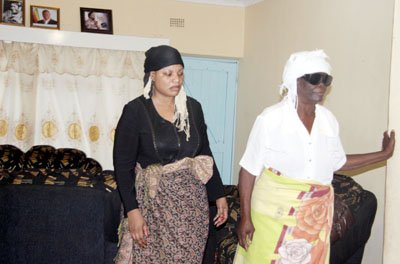 Ms Locadia Tembo with her mother in-law at their Buhera home