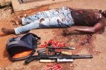 An armed robber shot dead in Chitungwiza in this file photo from 2011