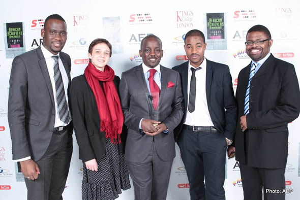 The team behind the Zim Achievers Awards: Lesley Dube (Project Co-odinator), Conrad Mwanza (centre) Director / Founder and Zeb Manatse (far right)