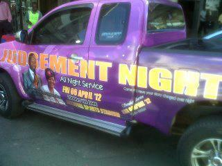 A truck to be used for Judgement Night