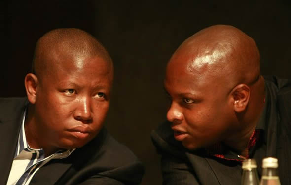 Former ANC Youth League President Julius Malema and Spokesperson Floyd Shivambu