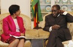 Zimbabwean dictator Robert Mugabe meets UN Human Rights High Commissioner Navanethem Pillay