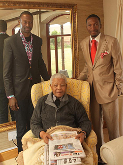 Makandiwa and Angel with Mandela