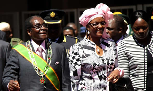 Mugabe grooming Grace to take over