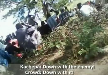 Video posted by SW Radio Africa last year implicates Milton Kachepa as an inciter of violence in Mudzi
