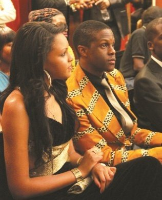 ROBERT Mugabe Junior with Miss Teen Zimbabwe 2012 Liseli Madiri