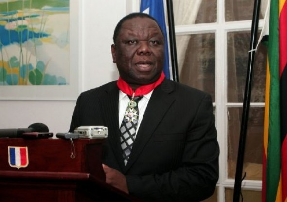France honours Tsvangirai for democracy fight