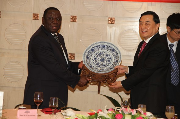 PM Tsvangirai in China last year