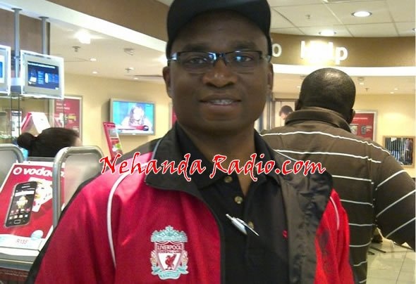Nigel Chanakira has jetted into the United Kingdom for the blood and thunder clash between Liverpool and Manchester United