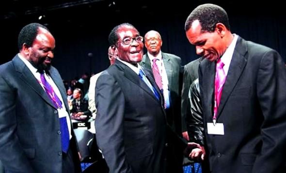 Robert Mugabe with Zanu-PF ministers