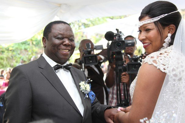 Morgan Tsvangirai and wife