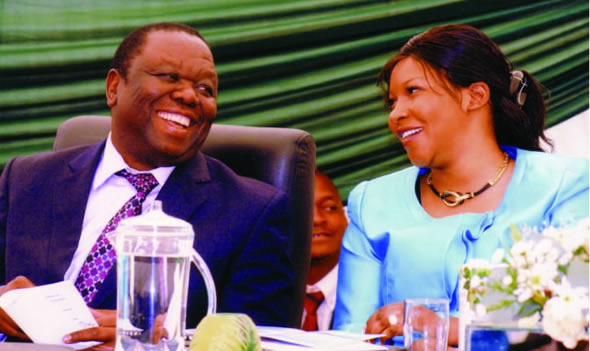 Morgan Tsvangirai and fiancee Elizabeth Macheka