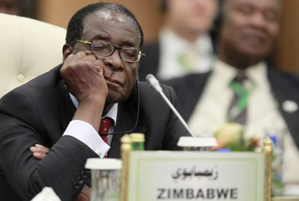 Mugabe dozes off during a meeting