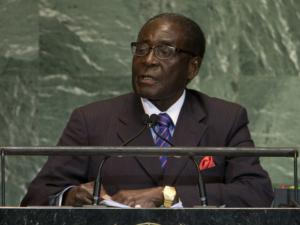 Zimbabwe President Robert Mugabe addresses the 67th session of the United Nations General Assembly at the UN headquarters in New York.
