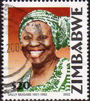 In 2002, to mark the 10th anniversary of Sally Mugabe's death, Zimbabwe issued a set of four postage stamps, of a common design, using two different photographs, each photograph appearing on two of the denominations. She is remembered fondly with love and affection, as she is still considered the founding mother of the nation of Zimbabwe