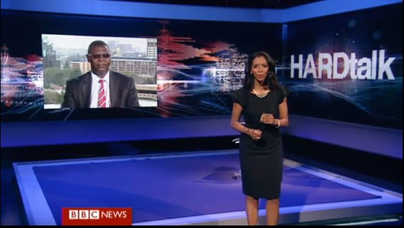 Transcript of Ncube interview on BBC Hardtalk