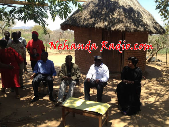 PM Tsvangirai and wife Elizabeth meet victims of political violence in Zaka last year