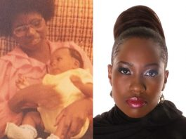 Then and Now: Cynthia Mare with her late mother (left)