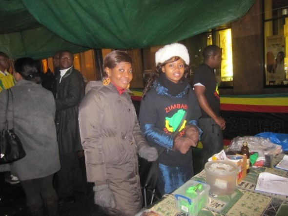 Members of the Zimbabwe Vigil in London