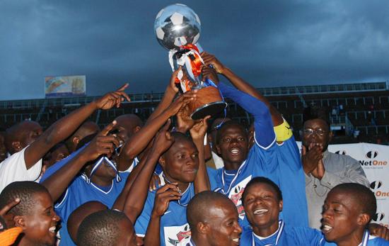 Dynamos players celebrate winning the season opening Charity Shield last season