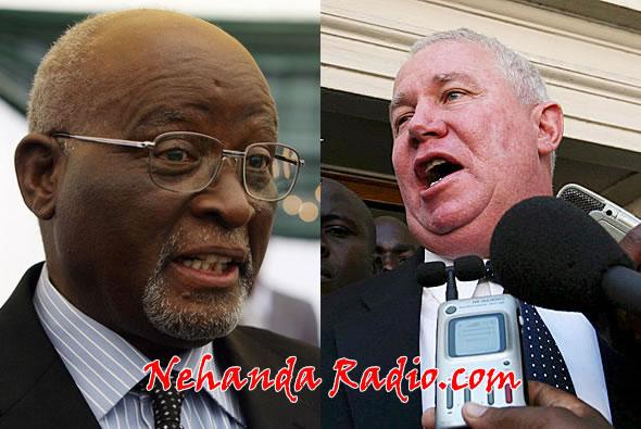 Roy Bennett (right) attacks US hypocrisy on John Nkomo (left)