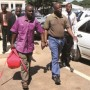 MDC officials Thabani Mpofu -left- and Warship Dumba during one of their court appearences