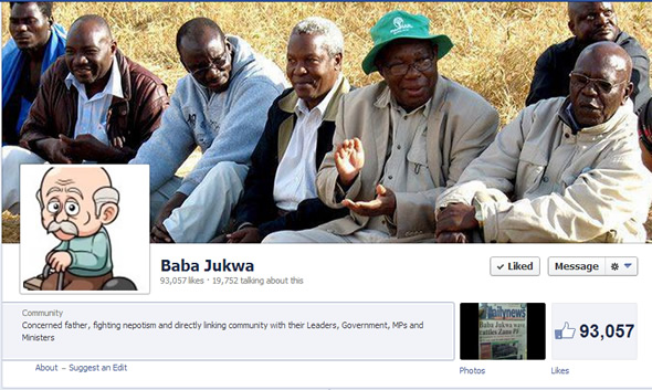Baba Jukwa Cover Page on Facebook