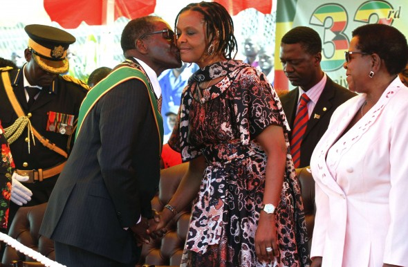 Image result for Robert Mugabe and Grace