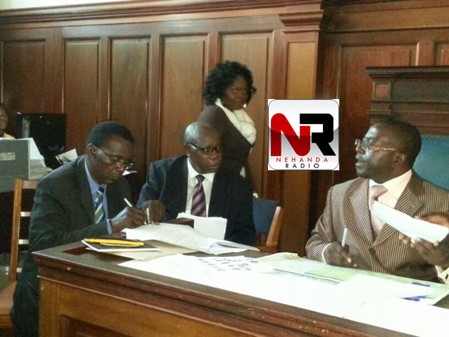 Former Daily News editor Geoff Nyarota files his nomination papers to stand as an independent