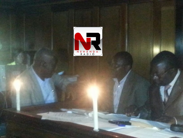 Giles Mutsekwa and Arnold Tsunga from the MDC-T both file their papers with the nomination court