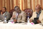 Simba Makoni, Morgan Tsvangirai and Dumiso Dabengwa seen at this press conference in 2013