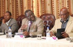 Simba Makoni, Morgan Tsvangirai and Dumiso Dabengwa