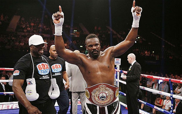 Title holder: Dereck Chisora took the vacant WBO belt with a sixth-round stoppage