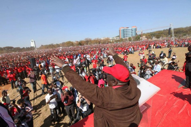 Morgan Tsvangirai 'Freedom Square' rally