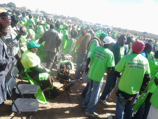 Welshman Ncube rally
