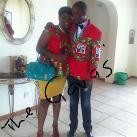 Zanu PF youth leader, Mike Gava and his wife, Tendai