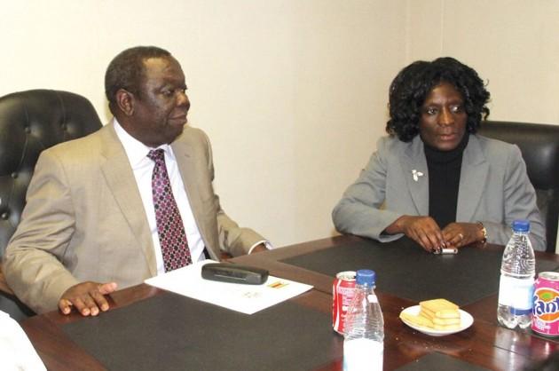 Prime Minister Morgan Tsvangirai meeting Zimbabwe Electoral Commission (ZEC) chairperson Rita Makarau