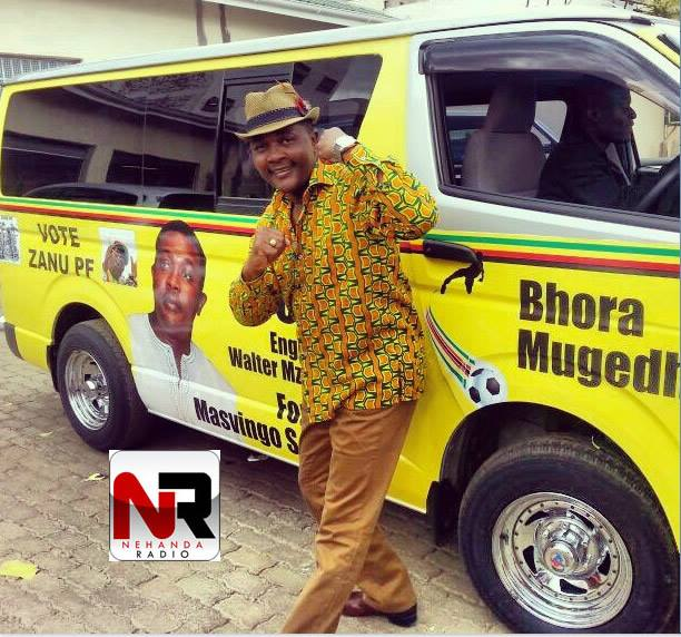 Tourism Minister and Zanu PF MP Walter Mzembi campaigns in Masvingo South.