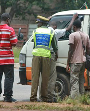 Traffic police in Zimbabwe