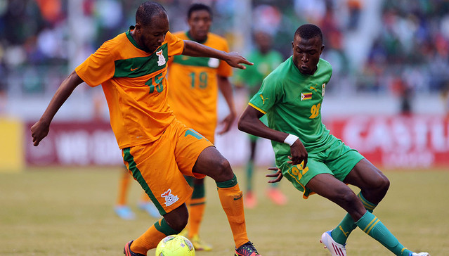 Zimbabwe vs Zambia in a Cosafa tie this year