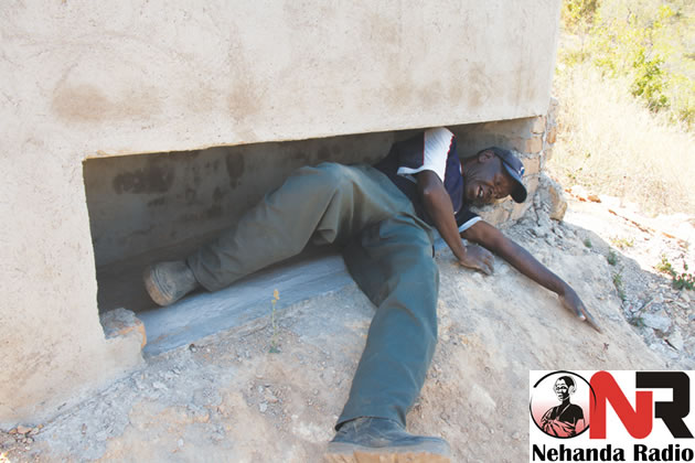 Clever Mureyani of Buwerimwe Village in Chief Zimunya tries out his grave
